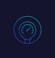 manometer pressure meter line icon vector image