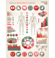 medical infographics elements human body vector image