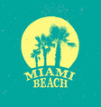 miami beach retro logo vector image