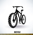 mountain bike symbol vector image