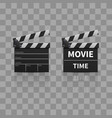 movie clapperboard or film clapper vector image vector image