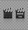 movie clapperboard or film clapper vector image vector image