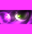 neon glowing circles abstract background vector image vector image