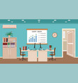 office room interior with two workspaces vector image vector image