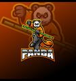 panda esport mascot logo design vector image vector image