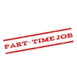 Part-Time Job Watermark Stamp vector image