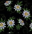 passiflora seamless pattern vector image vector image