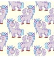 Pastel colored hand drawn unicorns seamless vector image vector image
