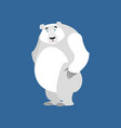 polar bear sad emoji wild animal arctic and vector image