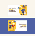 postman business card mailman delivers vector image vector image