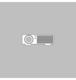 Projector computer symbol vector image