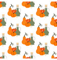 pumpkin seeds oil seamless pattern vector image vector image