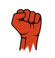 Raised Fist Icon Hand Protest Strike Fight vector image vector image