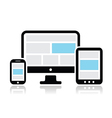 Responsive design for web icons set vector