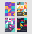 retro swiss graphic posters with geometric bauhaus vector image