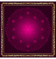 Round floral purple pattern a vector image vector image