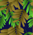 seamless foliage pattern3 vector image vector image