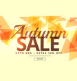 seasonal autumn sale banner poster template design vector image