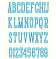 Serif font blue vector image vector image