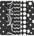 Set of hand drawn seamless pattern with black vector image vector image
