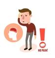 Sick character headache vector image vector image