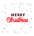 simple merry christmas origami lettering vector image