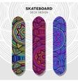 Skateboard colorful designs vector image vector image