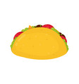 tasty taco flat cartoon character vector image vector image