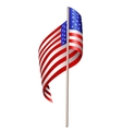 US waving flag vector image vector image