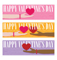 valentines day headers banners vector image