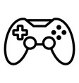 video game joystick icon outline style vector image vector image