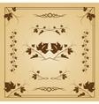 Vine seamless frame vector image vector image
