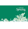 welcome spring greeting card lilies of valley vector image