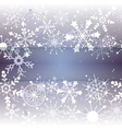 Winter Snowflake Background with Copy Space vector image vector image