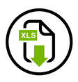 XLS file download simple icon vector image vector image