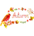 Hand drawn Autumn watercolor leaves frame vector image