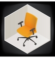 office chair isometric perspective vector image