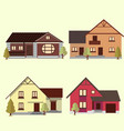 a set of houses to create a cityscape design vector image