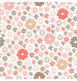 seamless floral pattern endless background vector image