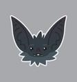 bat sticker emoji of cute vector image
