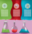Lab Tube Info Graphic Template vector image