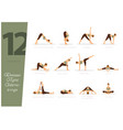 12 yoga poses to release tight hamstrings vector image vector image