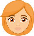 a womans face cartoon vector image vector image