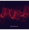 Abstract red Lines Design Violet background vector image