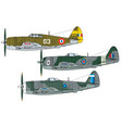 aircraft color scheme vector image vector image