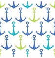 Anchors blue and green seamless pattern backgound vector image vector image