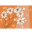 background with love chamomile vector image vector image