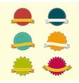 Badges Ribbons vector image vector image