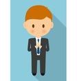boy kid cartoon black suit icon graphic vector image