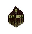 camping wildlife badge explorer logo vector image vector image